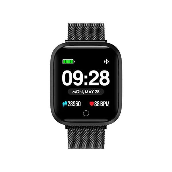 f55b1c20fc33 Azorex SmartWatch Multifunción Reloj Inteligente Cuadrado Negocio Trabajo  Impermeable IP67