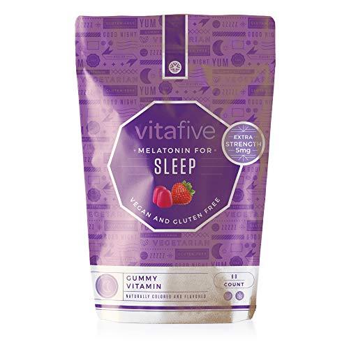 vitafive Extra Strength Melatonin Gummy Vitamins - Eco Frien