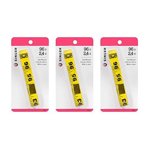 SINGER 00258 Extra Long Vinyl Tape Measure, 96-Inch (3-Pack)