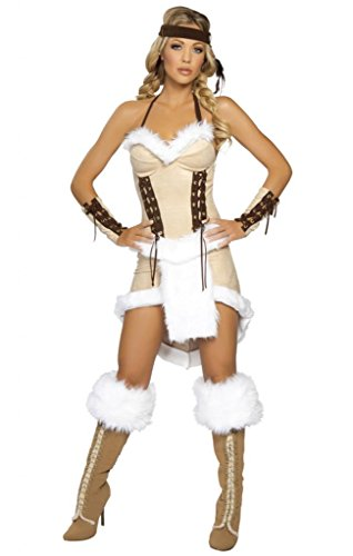Sexy Indian Fur Girl Halloween Costume