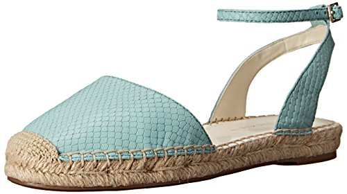 Anne Klein Womens Arika Leather Espadrille Sandal Turquoise JaObvMyc