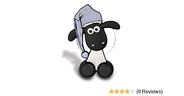 NICI 41483/ Shaun The Sheep Toothbrush Holder with Suction Cup White//Black//Blue 5/ x 7/ x 2,5/ cm Colour