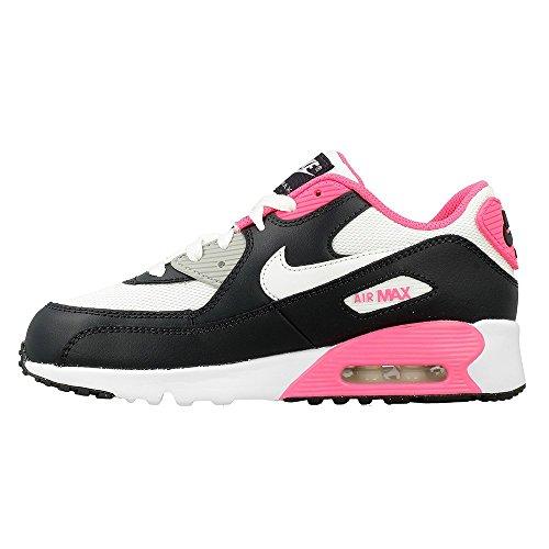 Nike Air Max 90 Mesh (Ps), Zapatos de Primeros Pasos Para Bebés Negro (Negro (Anthracite / White-Hyper Pink))