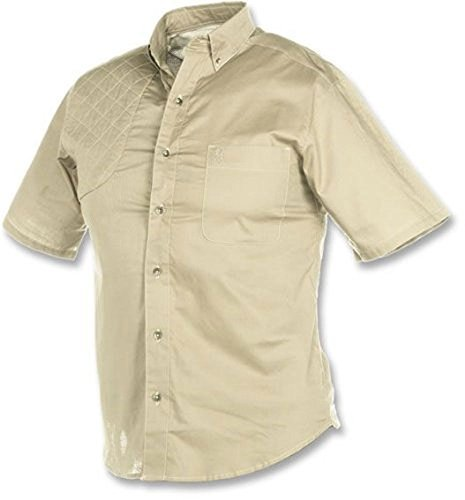 - Browning Badger Creek Short Sleeve Woven Shooting Shirt, Color: Sand (30103448) by Browning
