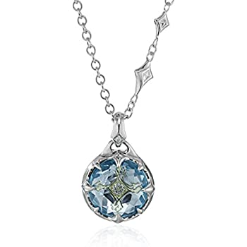 Amazon judith ripka linen silver twin heart pink pendant judith ripka windrose couture pendant necklace with drop at the back with sky blue topaz and diamond pendant necklace 16 2 extender aloadofball Gallery