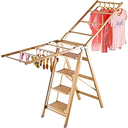GJF Tendedero Estante de Secado Plegable de Piso Multifuncional con Escalera Estante de Secado Tipo de ala Estante de Secado Escalera doméstica (Color : 5 Step Ladder): Amazon.es: Hogar