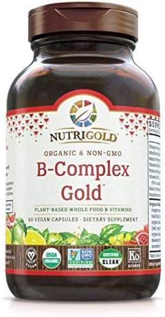 Amazon.com: NutriGold Vitamina B-Complex Oro orgánicos ...