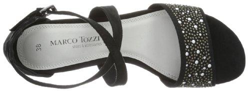 Marco Tozzi 2-2-28104-22 - Sandalias de tela para mujer Negro (Schwarz (Black 001))