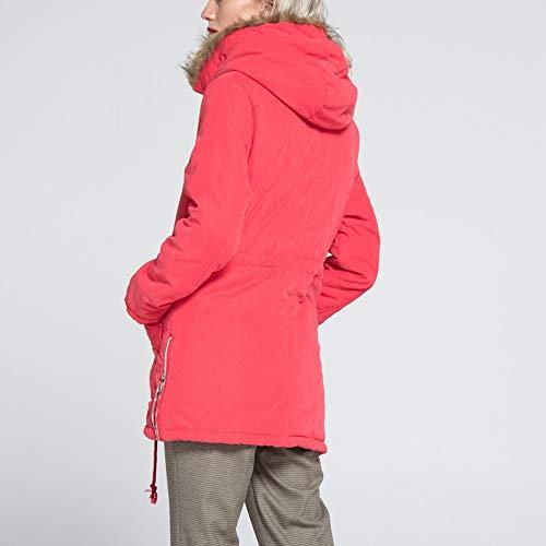 Sweatshirt Chic de Rouge Vrac Manteau Parka Casual Collier Winter Long Coat Femme Automne Fourrure dcontract Tops Veste POTTOA Femmes Slim T Femmes Shirt Capuche Blouse Coton Sports Manteaux Pull Pastque IqpnwC1xg
