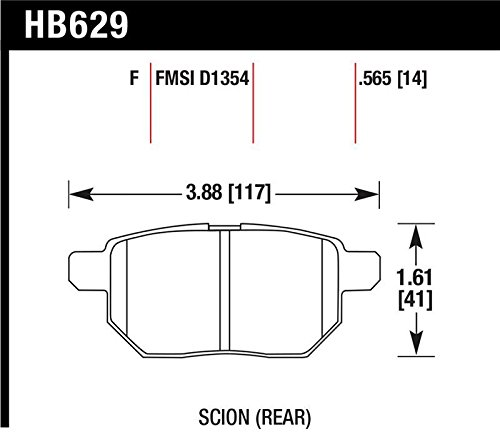 Hawk Performance HB629F.565 HPS Disc Brake Pad, Rear