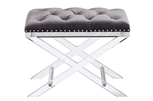 698043009113 - Sunpan Modern 100957 Allura Bench with Light Grey Fabric carousel main 3