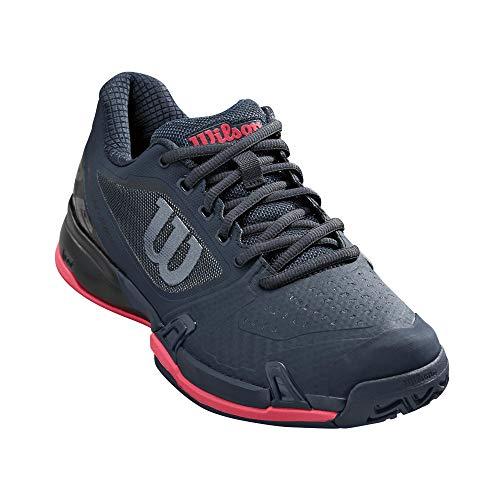 (Wilson Womens Rush Pro 2.5 Tennis Shoes, Blueberry/Black/Paradise Pink (Size 8.5) )
