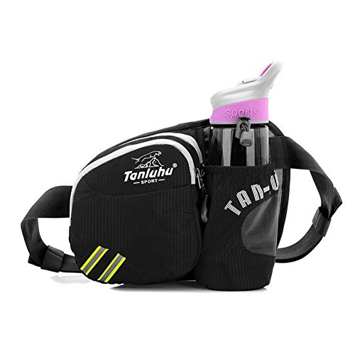 Unisex Waterproof Waist Bag Bumbag Colorful Chest Bag Casual bag with Water Bottle Holder - - Stores Black Fly Sunglasses