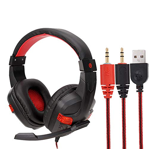 - Geetobby Folding Gaming Headset for PS4, Noise Cancelling Over Ear Headphones with Mic, LED Light