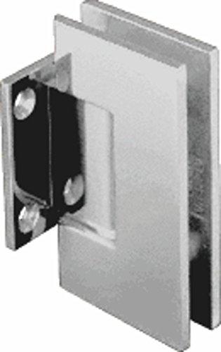 CRL Geneva Series Polished Nickel Wall Mount Short Back Plate Hinge (Standard ()