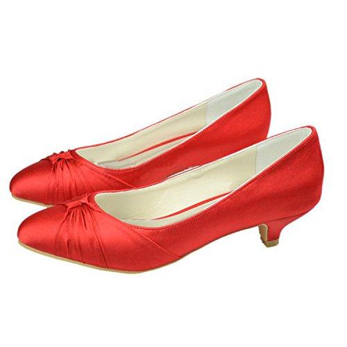 Minitoo , Escarpins pour femme - rouge - Red-3.5cm Heel,
