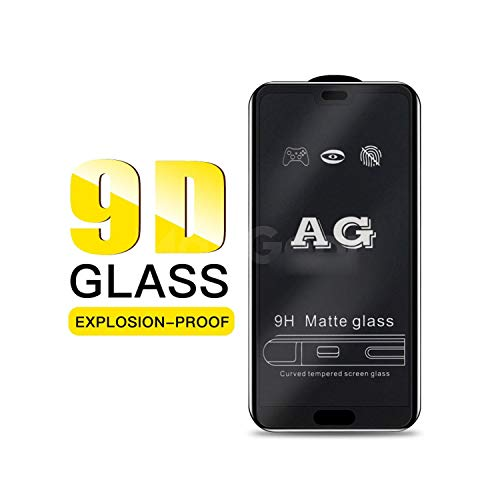 Mounocpsp Tempered Glass Film,Matte Tempered Glass for Honor 8X 8A 10 Lite Play Frosted Screen Protector for Mate 20 10 Y7 Pro Y9 New Shield Film for Honor 8A Black