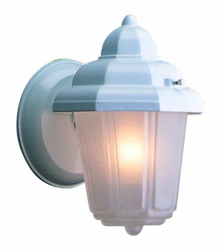 Design House 507483 Maple Street 1 Light Indoor/Outdoor Wall Light, White
