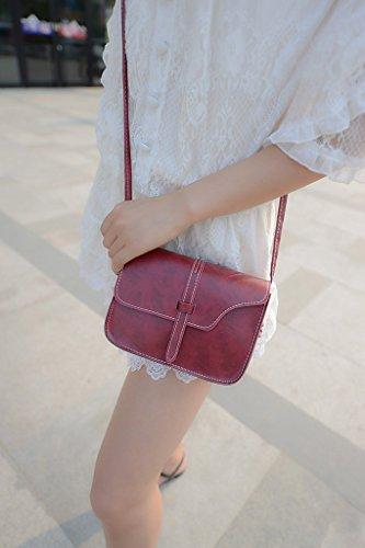 1 X Bolso de Hombro de Para Las Mujeres - Embrague Retro Del Diseñador de Moda de La PU / Bolso Simple De Crossbody Para el Partido / el Hacer Compras / el Viajar - Borgoña borgoña