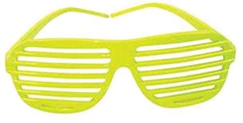 Yellow Shutter Shades Slotted Sunglasses Fashion - Yellow Shades Shutter