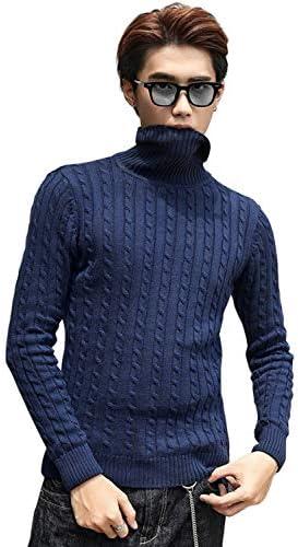 ニット セーター メンズ タートルネック ケーブルニット ケーブル編み 冬物 ビジネスニット 防寒 厚手 暖かい 無地 おしゃれ 冬服