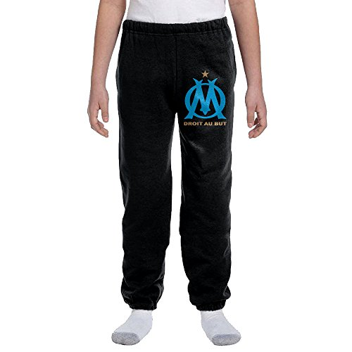 TAshuo Teen/Youth UEFA Olympique De Marseille Logo Sweatpants