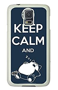 Samsung Galaxy S5 sell covers Funny Keep Calm Quotes PC White Custom Samsung Galaxy S5 Case Cover