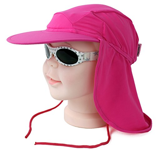 Yoccoes designs Pink UV Flap Hat and BabyBanz Dooky Silver Star Sunglasses  0-2 Years - Buy Online in Oman.   Clothing Products in Oman - See Prices,  ... 89478261adc