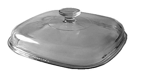 (Corning Ware / Pyrex Clear Square Glass Lid ( 9 3/4