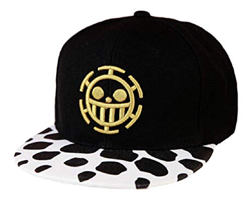 GK-O Anime One Piece Trafalgar Law Sign Skull Head Baseball Cap Visor Hip  pop 828c4ddd4142