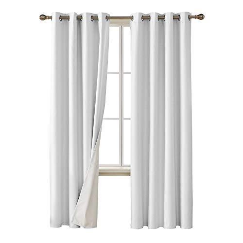 Deconovo Faux Linen Blackout Curtains with 3 Pass Energy Eff