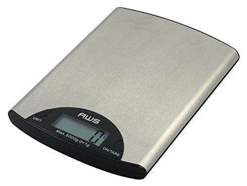 American Weigh Scales ME-5KG Digital Kitchen Scale, Silver