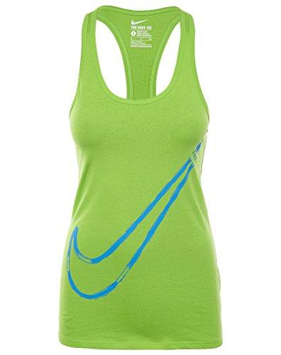 Nike Swoosh Tank Top Vrouwen Papegaai Groen