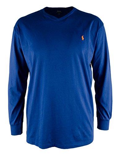 Polo Ralph Lauren Men's Big & Tall Long Sleeve V Neck T-Shirt-EB-3XB ()
