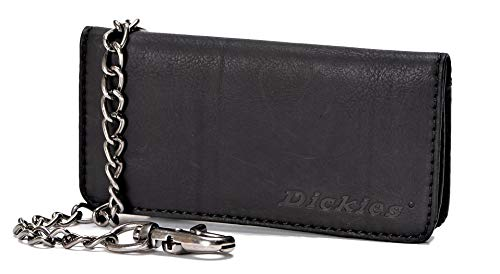 Dickies  Men's  Trucker Wallet with Chain,Black
