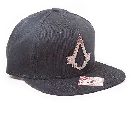 - Gamer Merchandise UK Assassin's Creed Syndicate SB051328ACS Unisex Bronze Logo Snapback Flat Cap, Black, One Size
