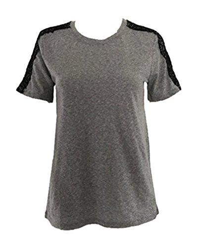 (GAP Ladies Crew neck Short sleeve T-shirt Grey Size XL)
