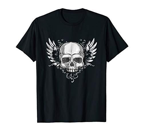 Skull wings of springs TShirt Vintage Hard Rock Motorbike