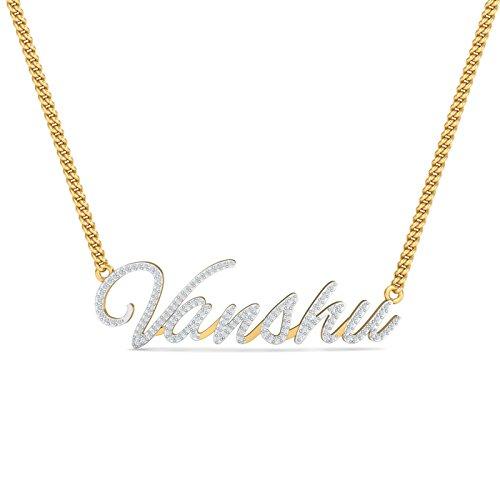 KuberBox 14KT Yellow Gold and Diamond Pendant for Women