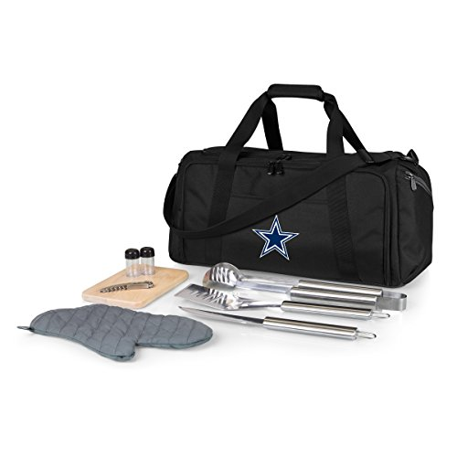 NFL Dallas Cowboys BBQ Kit/Cooler Tote with Barbecue and Picnic Accessories
