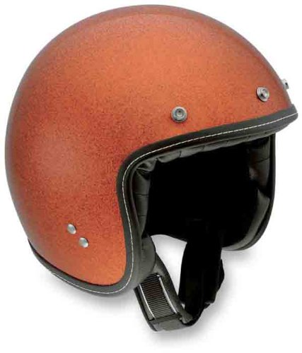 AGV RP60 Open Face Motorcycle Helmet Orange Metal Flake Extra Large XL