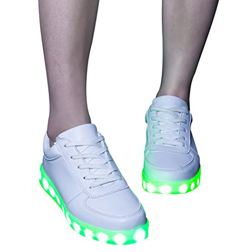 Sun Glowing White Chargeable Sneakers Night LED Lorence Sport Fashion Color Lighting Women 7 Shoes rzqOrxI