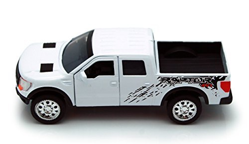 White Jada Just Trucks 5-inch 2011 Ford F-150 SVT Raptor Pickup 1/32 Scale Truck with Pullback Action Ford Svt Pickup Truck