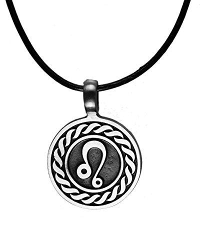 - Exoticdream Astrology Zodiac Horoscope Birth Sign Pewter Pendant (Leo)