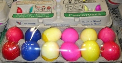 Silly Rabbit Confetti Eggs, Cascarones, 1 Doz., (Pack of 6 - Total 72 Eggs)