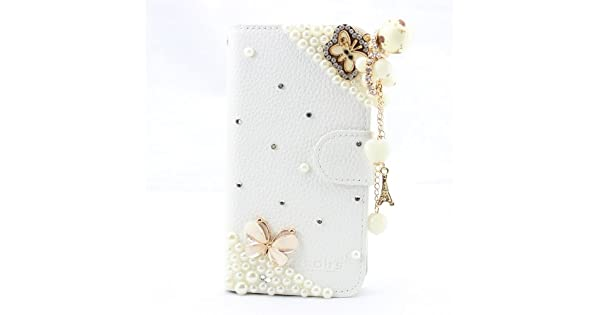 Amazon.com: yeah fashion 3d bling leather wallet card flip ...