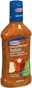 Kraft Dressing, Roasted Red Pepper Italian, 16-Ounce Bottles (Pack of 6)
