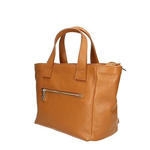 Handbag Cuoio Cm 25x20x10 Pelle Vera Italy Donna Made in Mano Aren da Borsa a in qSqd4C