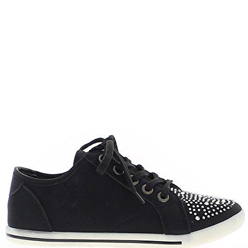 Sneaker bassa donne nero opaco.