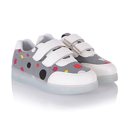 Little Man In The Boat Halloween Costume (LED shoes Light Up Shoes USB Charging LED Flashing Sneakers Christmas Gift(Grey 2.5 M US Little Kid))
